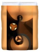 Paper Lamps Duvet Cover