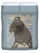 Paper Pug Duvet Cover