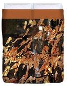 Papery Beech Leaves Duvet Cover