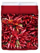 Paprika Peppers At A Market Stall. Duvet Cover