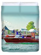 Parade Of Boats 41 Duvet Cover