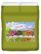 Parade Of The Seasons Duvet Cover