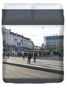 Paradeplatz - Bahnhofstrasse, Zurich Duvet Cover