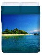 Paradise Island Haiti Duvet Cover