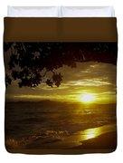 Paradise Lensflare Beach Sunset #9412 Duvet Cover