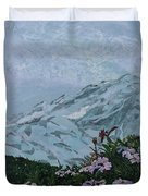 Paradise Mount Rainier Duvet Cover