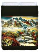 Paradise Mountain Duvet Cover