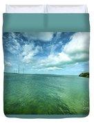 Paradise On Earth, Florida Keys Duvet Cover