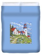 Paradise On The Point Duvet Cover