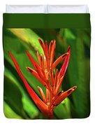 Parakeet Flower Exotic Duvet Cover