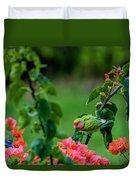 Parakeet South Maui Duvet Cover