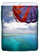 Parasail Over Fiji Duvet Cover