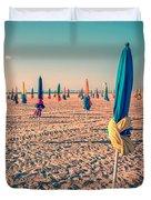Parasols Of Deauville Duvet Cover