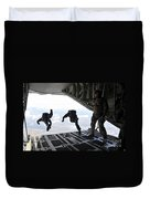 Paratroopers With The Spanish Military Duvet Cover