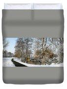 Walk In A Snowy Park Duvet Cover