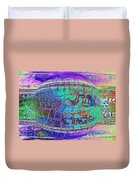Parched Earth Abstract Duvet Cover