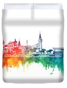 Pardubice Skyline City Color Duvet Cover