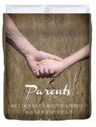 Parents For A Lifetime Duvet Cover