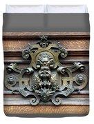 Paris - 19th Century Brass Door Knocker Duvet Cover