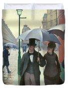 Paris A Rainy Day - Gustave Caillebotte Duvet Cover