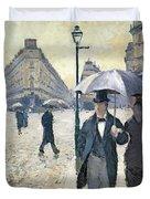 Paris A Rainy Day Duvet Cover