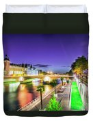 Paris At Night 16 Art Duvet Cover