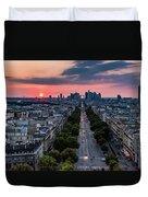 Paris, Avenue De La Grande Armee Duvet Cover
