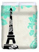 Paris Blues Duvet Cover