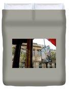 Paris Cafe Views Reflections Duvet Cover
