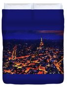 Paris City View Duvet Cover