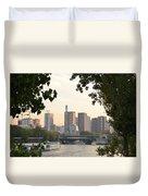 Paris Cityscape Across The Water Duvet Cover