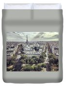 Paris Cityscape From Above, France Duvet Cover