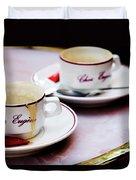Paris Coffee Cups Duvet Cover
