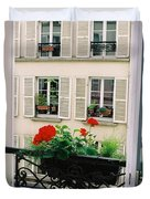Paris Day Windowbox Duvet Cover