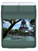Paris Eiffel Boat Duvet Cover