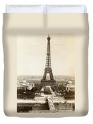 Paris: Eiffel Tower, 1900 Duvet Cover