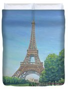 Paris Eiffel Tower Duvet Cover