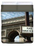 Paris France. Larc De Triomphe On Place Charles De Gaulle Duvet Cover