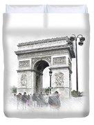Paris, France  Triumphal Arch  Illustration Duvet Cover