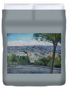 Paris From The Sacre Coeur Montmartre France 2016 Duvet Cover