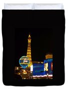 Paris Hotel At Night Duvet Cover