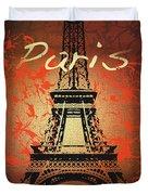 Paris In The Fall  Duvet Cover