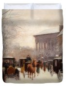 Paris In Winter Duvet Cover