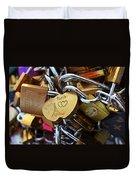 Paris Love Locks Paris France Color Duvet Cover