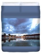 Paris Night Sky Duvet Cover by Milan Mirkovic