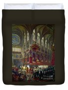 Paris: Notre Dame, 1841 Duvet Cover