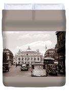 Paris Opera 1935 Sepia Duvet Cover