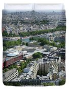 Paris Panorama From The Eiffel Tower Duvet Cover
