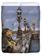 Paris-pont Alexandre Terzo Duvet Cover