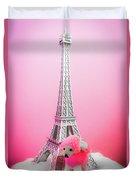 Paris Poodle Duvet Cover